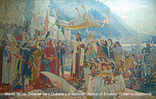 Долазак цара Душана у Дубровник