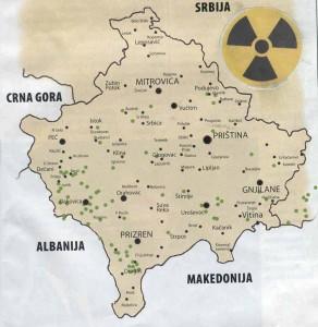 Косово и Метохија: Мапа уранијумских бомби