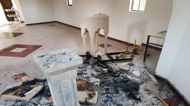 Запаљена тек обновљена православна црква